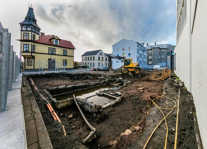 The excavation is in Reykjavik centre.