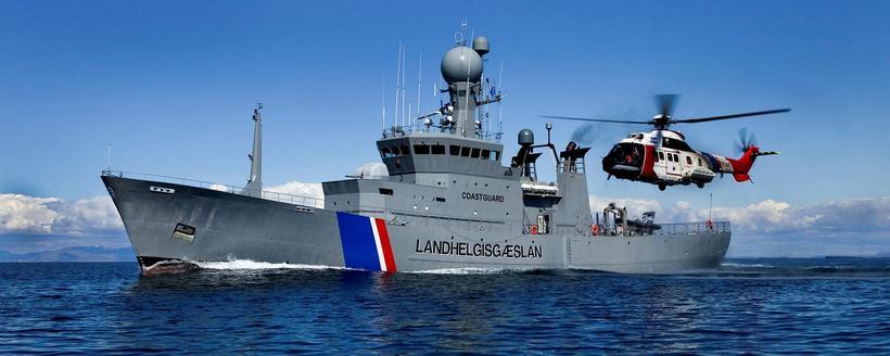 The coast guard ship Ægir.