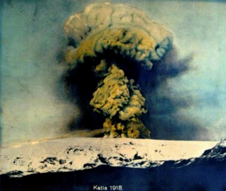 An image of the 1918 eruption.