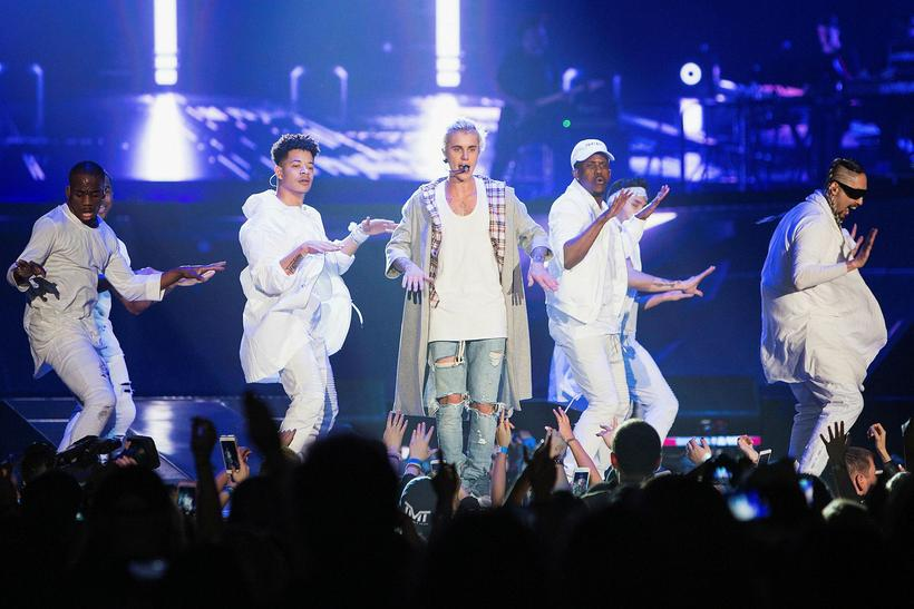 Justin Bieber at his opening Purpose World Tour gig in ...