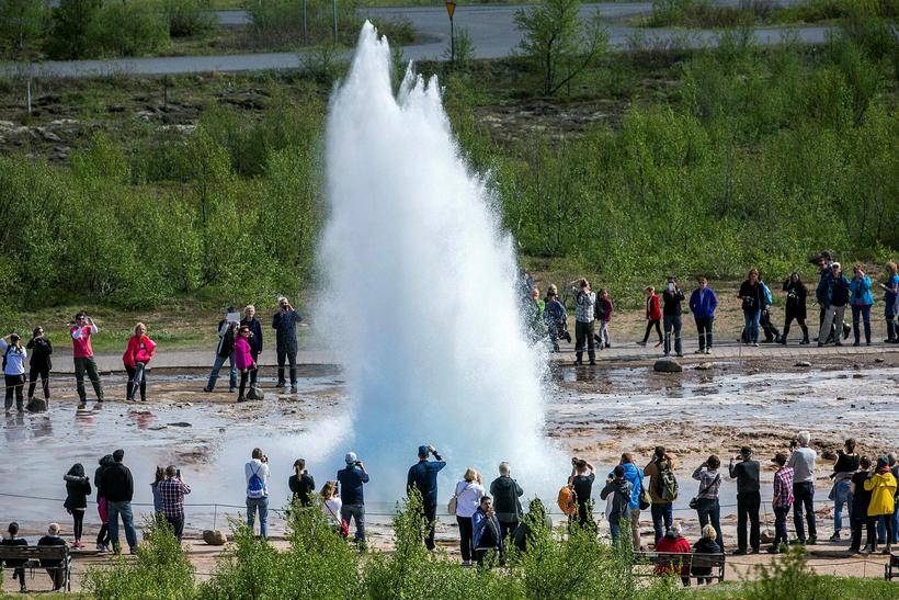 Strokkur only erupts every few minutes - rather than in ...