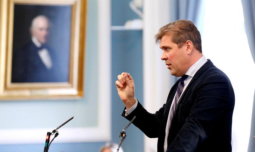 Bjarni Benediktsson er formaður Sjálfstæðisflokksins og forsætisráðherra Íslands.