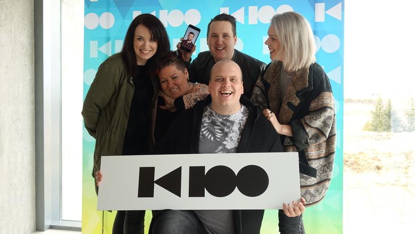 SHREK-hópurinn mætti í Live Lounge K100.