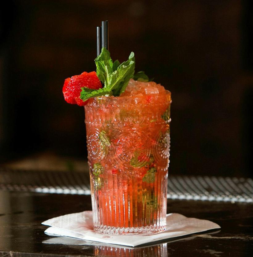 A cocktail at Apótek.