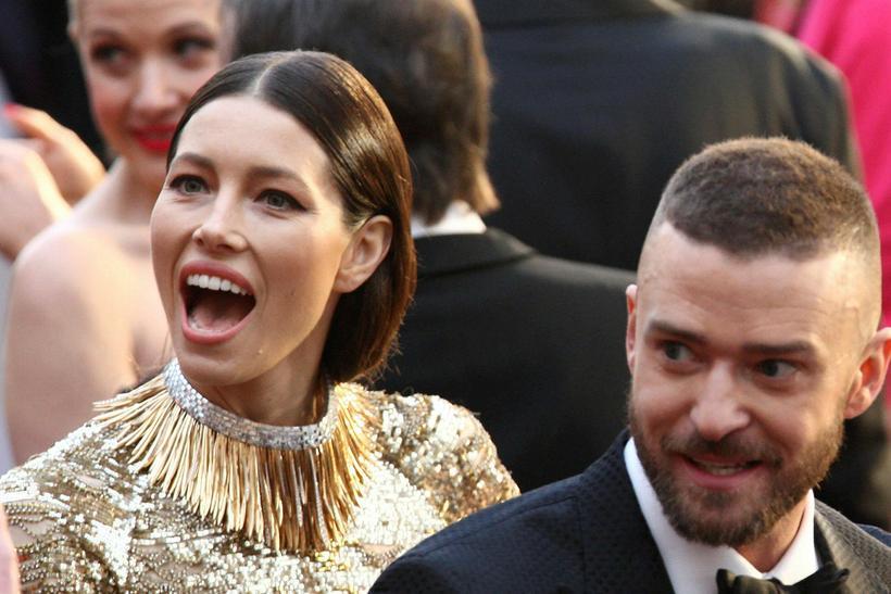 Jessica Biel ásamt eiginmanni sínum, Justin Timberlake.