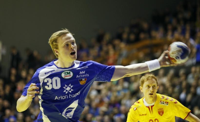 Ómar Ingi Magnússon skoraði 4 mörk fyrir Aarhus í kvöld.