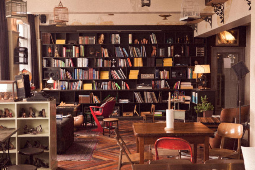 The warm atmosphere of Kex Hostel.