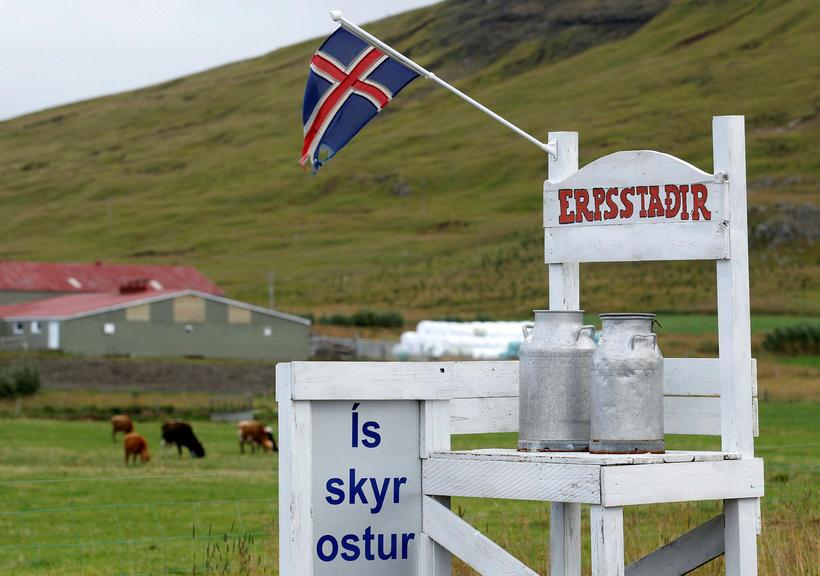 The farmers at Erpsstaðir produce a number of dairy products.