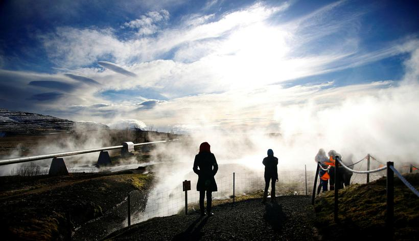 Deildartunguhver is the most powerful hot spring in Iceland.