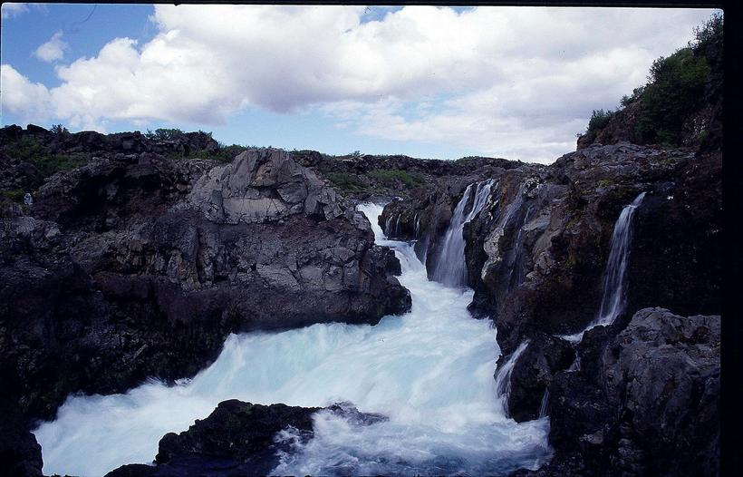 Barnafoss is only a two minute walk or so from ...