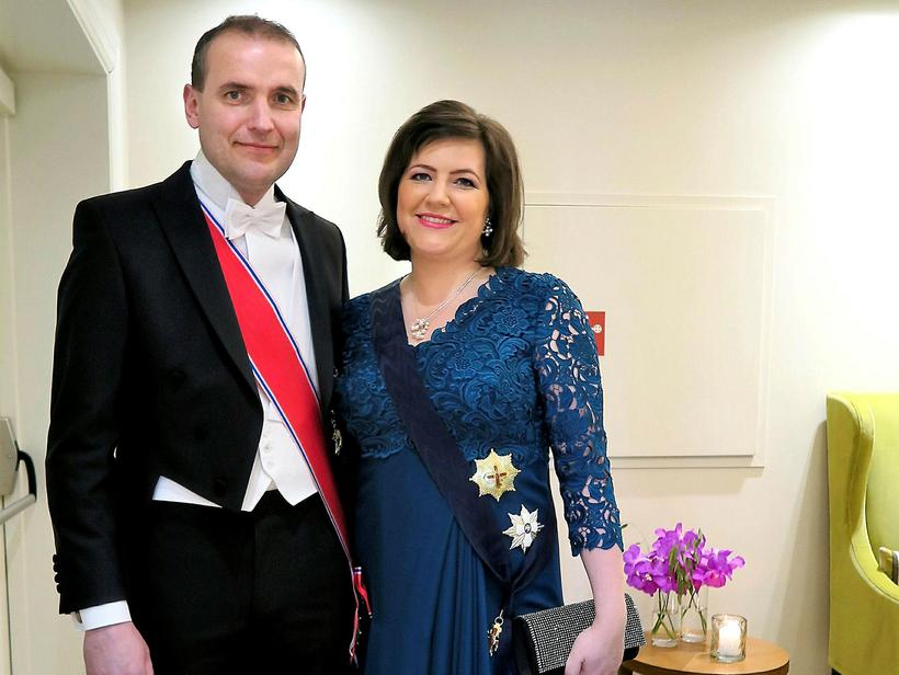 Guðni Th. Jóhannesson and his wife, First Lady Eliza Reid.