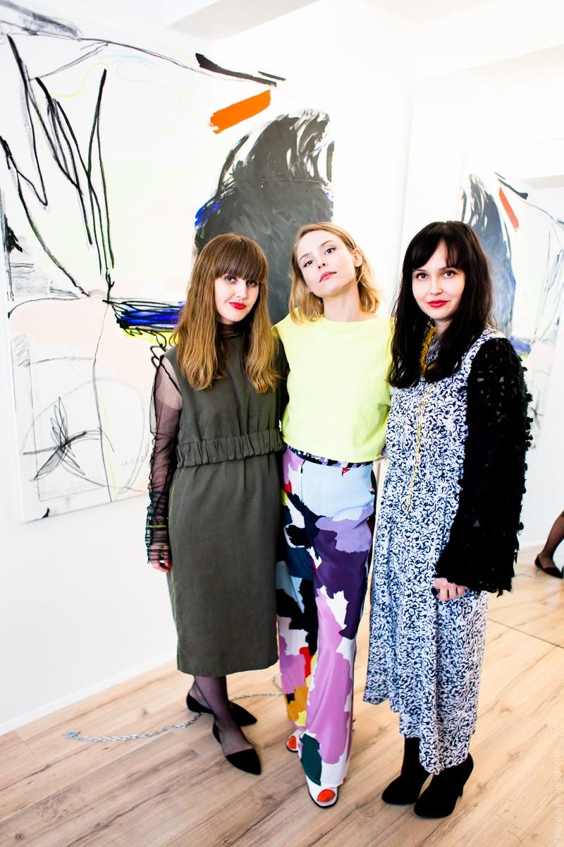 The designer along with artist Auður Ómarsdóttir. Her art will ...