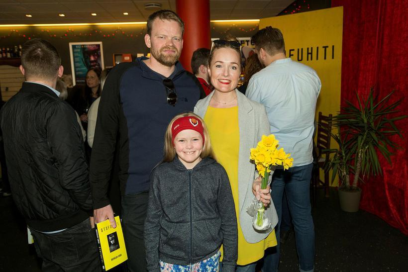 Steindór Guðmundsson, Ásdís og Hildur Jónsdóttir.