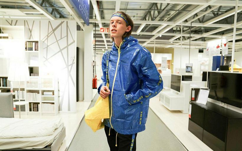 IKEA X INKLAW, streetwear made from the famous IKEA bag.