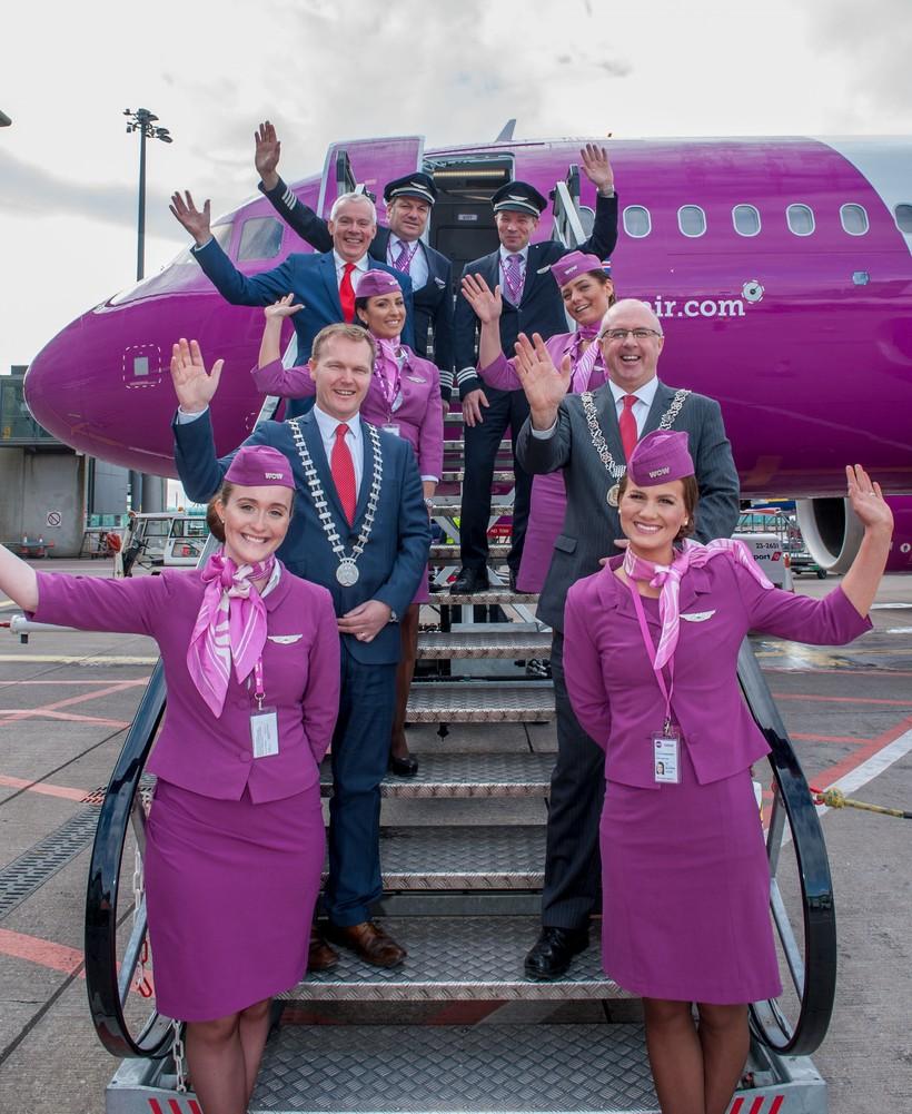 WOW air hóf flug til Cork haustið 2016.