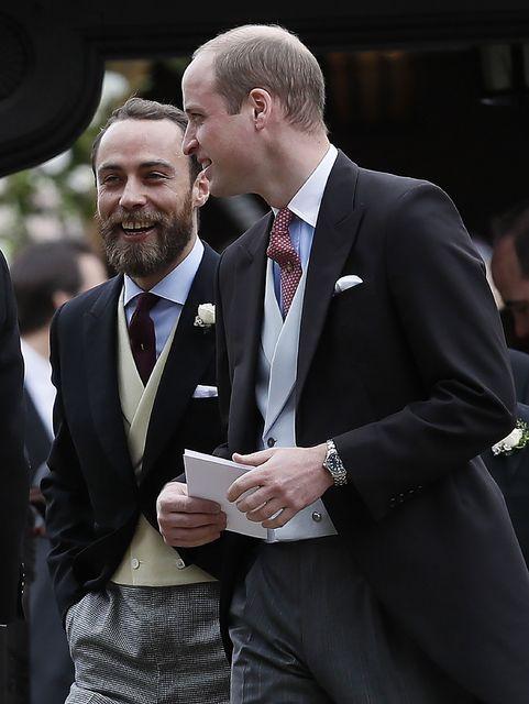 James Middleton með mági sínum Vilhjálmi Bretaprinsi.