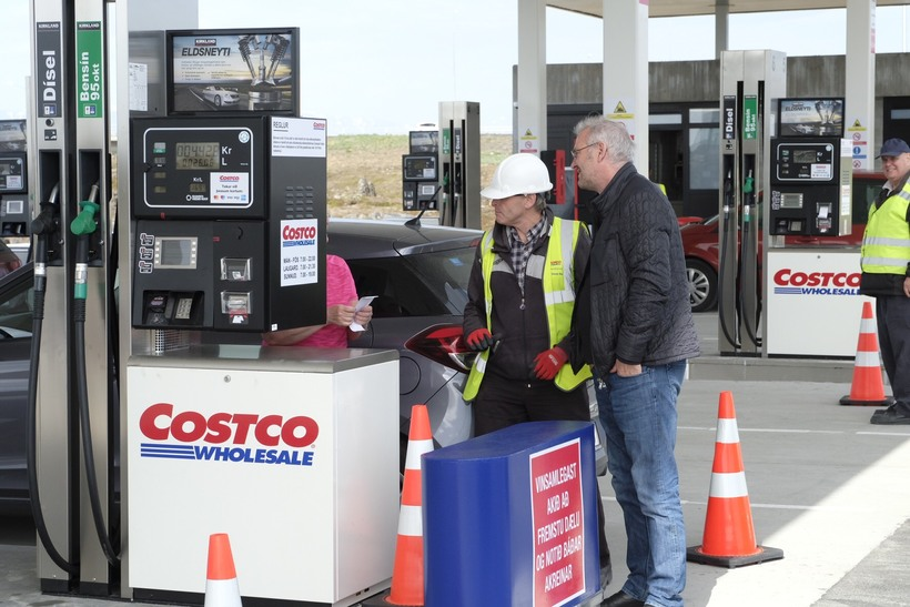 The litre of petrol at Costco goes for 169,9 Icelandic …