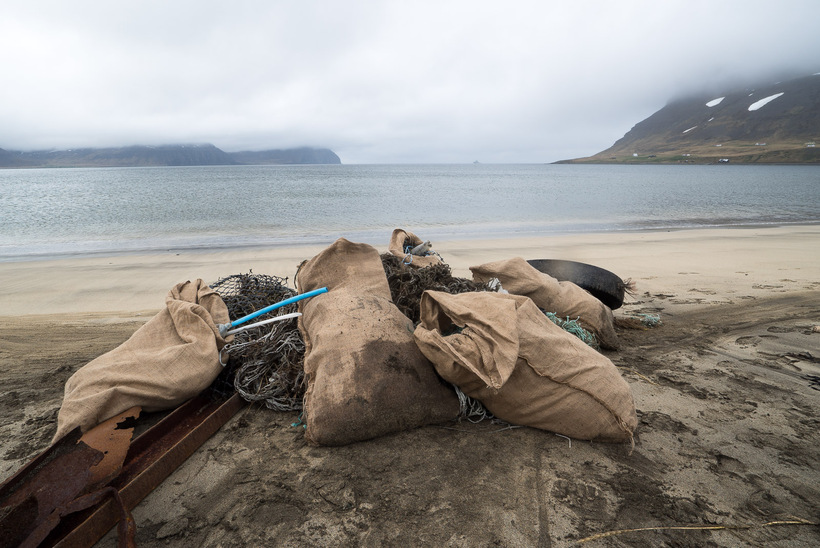 The garbage was later picked up by the Icelandic Coast ...