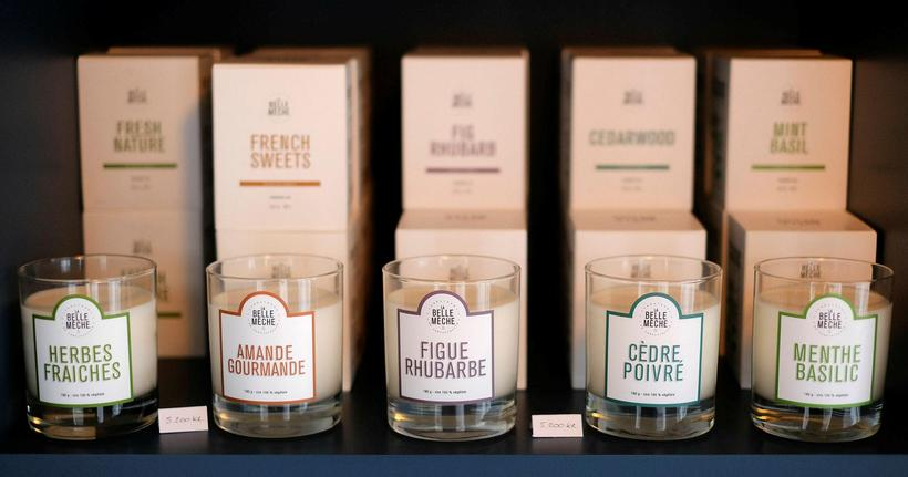 French perfumed candles.