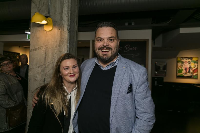 Kolfinna Von Arnardóttir og Björn Ingi Hrafnsson.