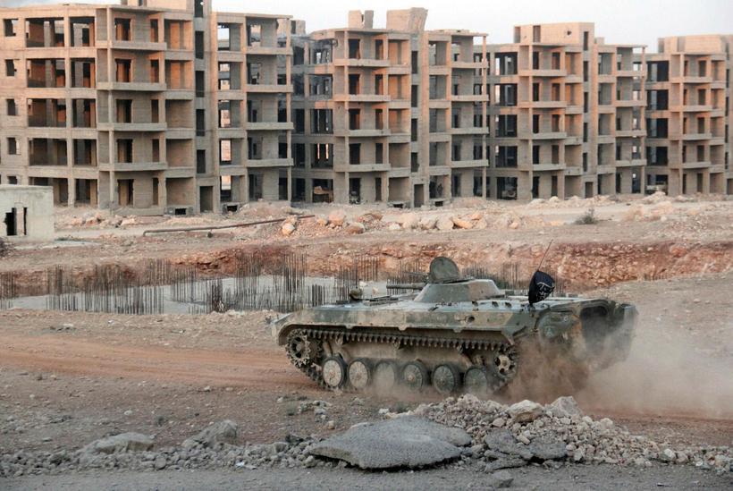Íbúðahverfi í Aleppo.