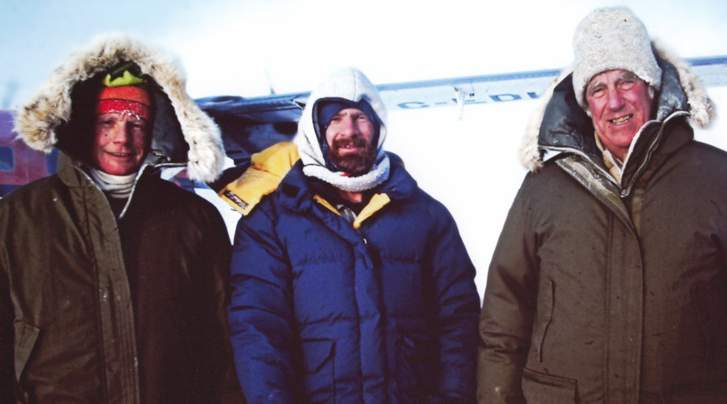 Neil Armstrong, Mike Dunn and Edmund Hillary.