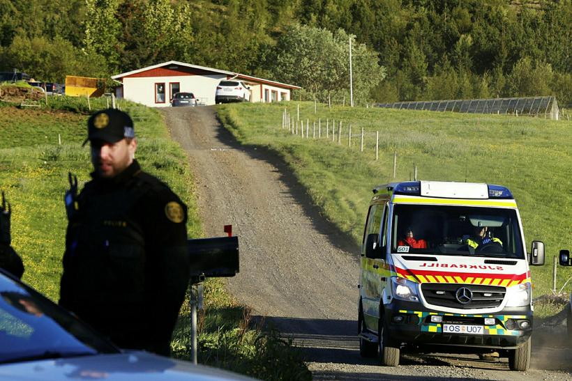 The victim was attacked at his home Æsustaðir in Mosfellsdalur, ...