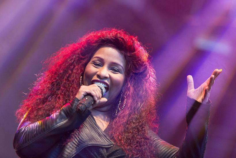 Chaka Khan was the last artists to step on stage.