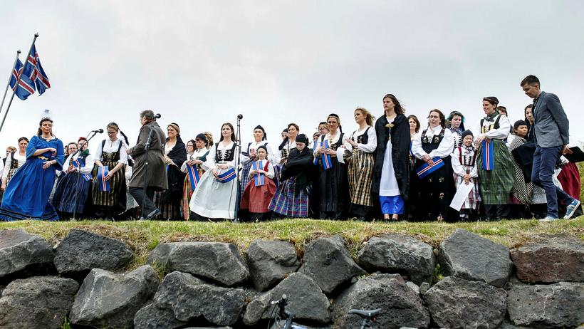 It's tradition that women that own the Icelandic national costume …