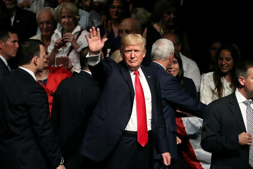 Donald Trump, forseti Bandaríkjanna, rætti um breyttar áherslur í samskiptum ...