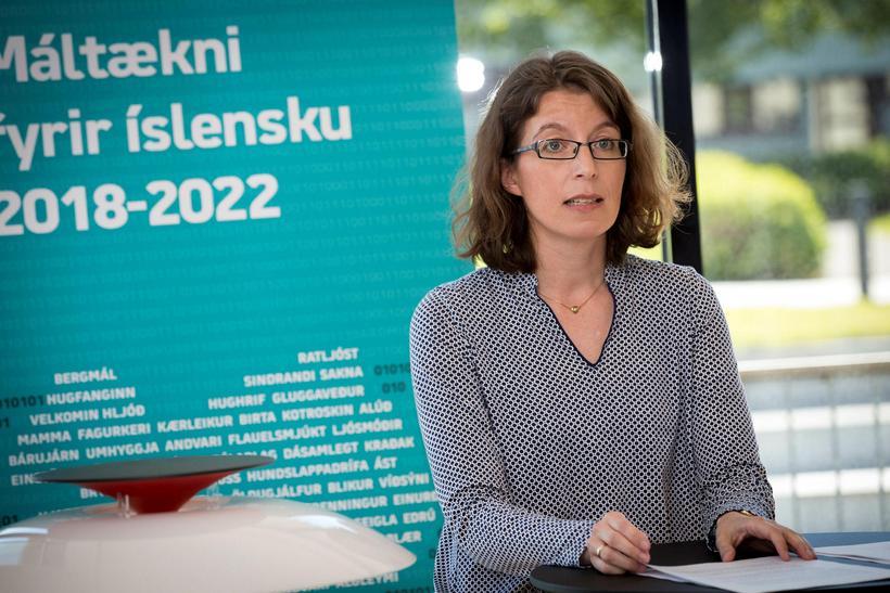 Anna Björk Nikulásdóttir sérfræðingur í máltækni við Gervigreindarsetur Háskólans í ...