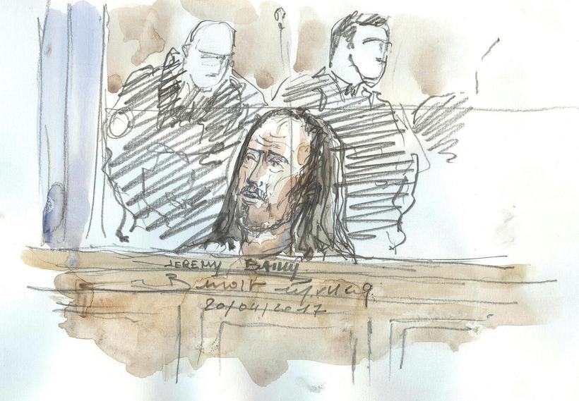 Jeremy Bailly var í gær dæmdur í 28 ára fangelsi.