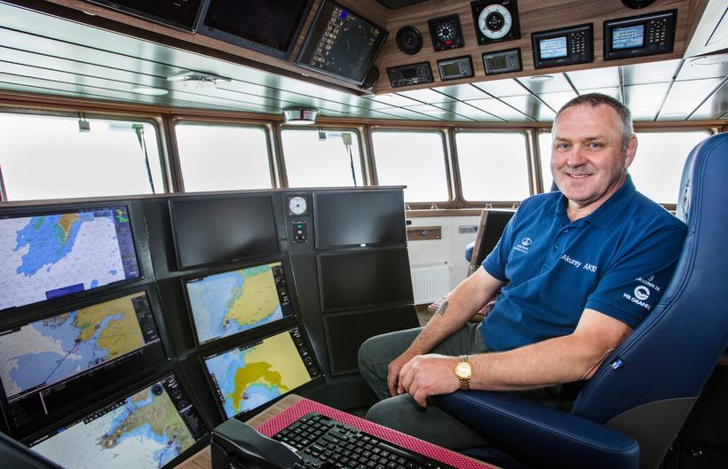 Eiríkur Jónsson, skipstjóri á Akurey.