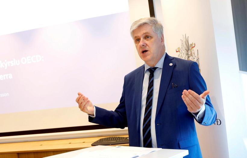 Benedikt Jóhannesson, fjámála- og efnahagsráðherra.