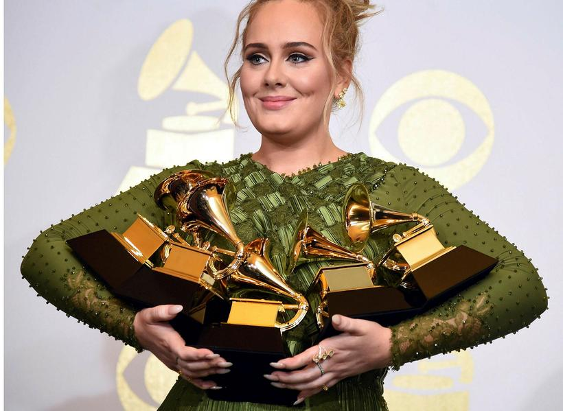 Söngkonan Adele.