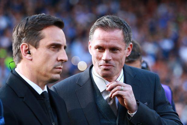 Gary Neville og Jamie Carragher.