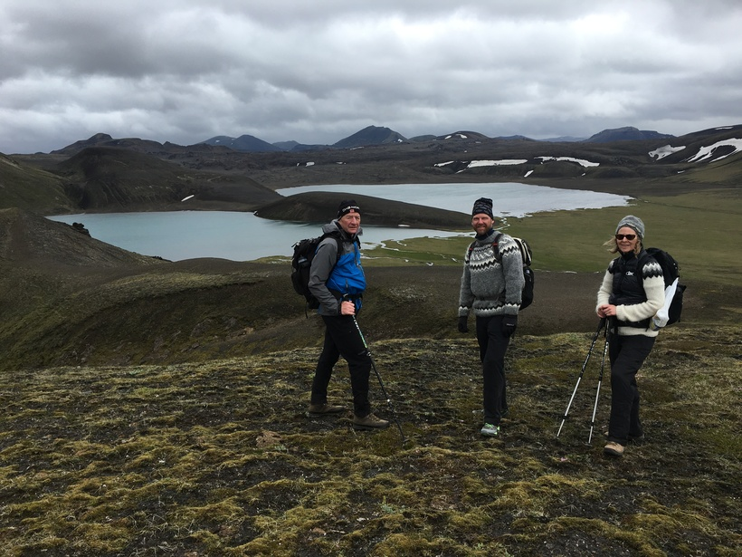 Dómadalsvatn to the left and the new lake to the ...