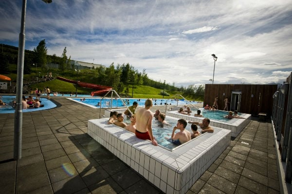 Hot tubs in Þelamörk.