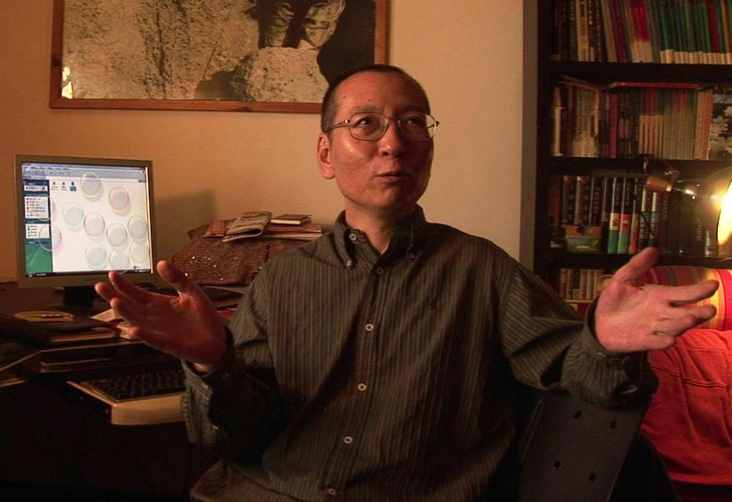 Liu Xiaobo tveimur dögum áður en hann var fangelsaður.