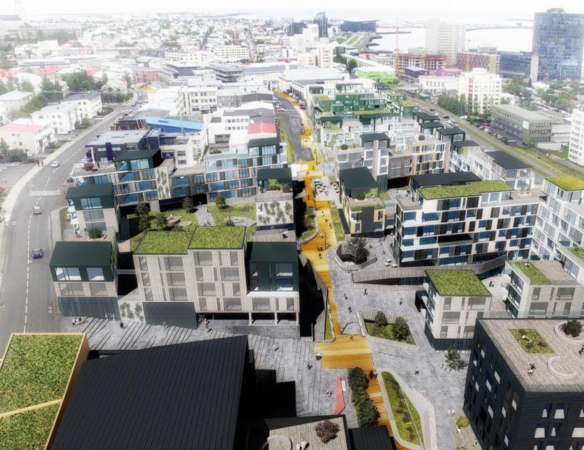 Vinningstillagan frá Yrki arkitektum.