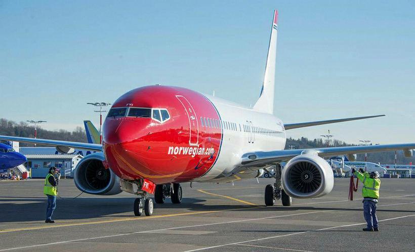Flugvél frá norska flugfélaginu Norwegian. Mynd úr safni.