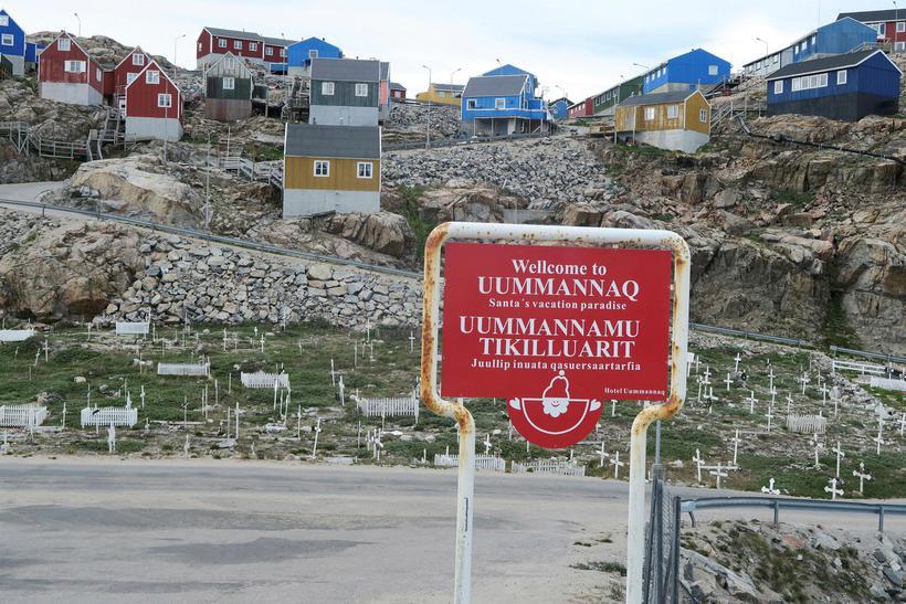 Bærinn Uummannaq á Grænlandi. Þar er skortur á húsnæði en ...