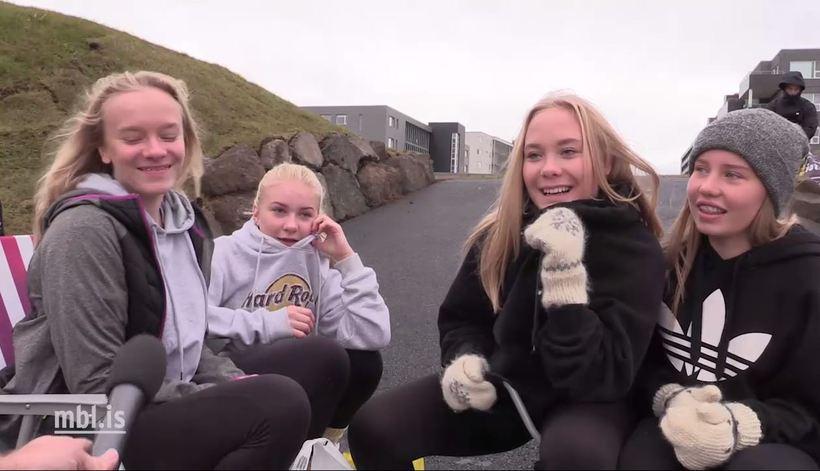 Beliebers Þóra, Guðrún, Auður and Ólivía.