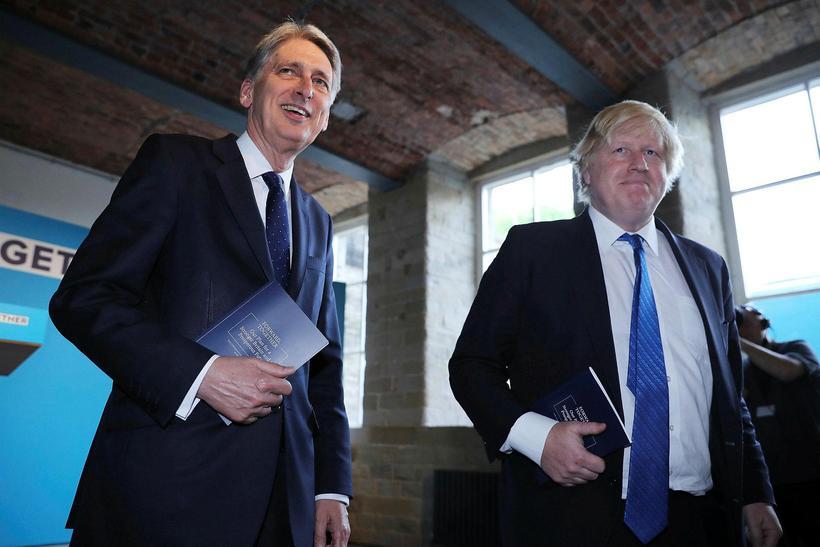 Philip Hammond og Boris Johnson hafa tekist á um Brexit ...