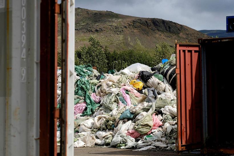 Frá starfsemi Pure North Recycling í Hveragerði.