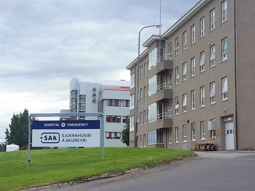 Sjúkrahúsið á Akureyri.