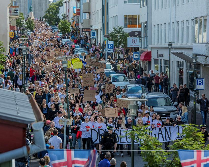 The Reykjavik Slut Walk in 2017 where thousands of people ...