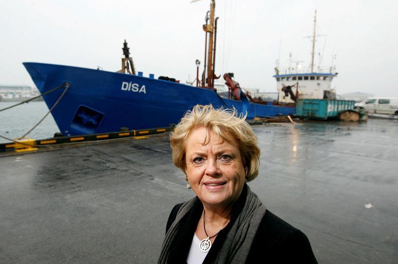 Dýpkunarskipið Dísa heitir í höfuðið á Þórdísi Unndórsdóttur, skrifstofustjóra hjá ...