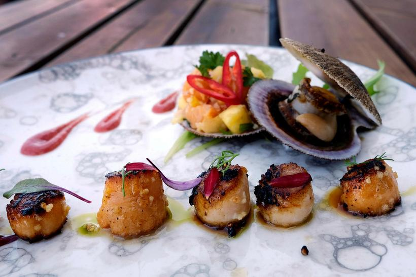 This scallop dish from Sjávarpakkhúsið brings exotic flavours to a ...