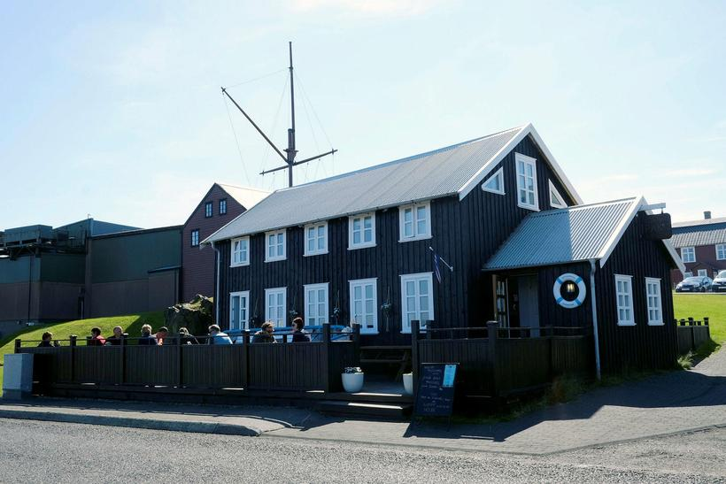 Sjávarpakkhúsið is a popular restaurant in Stykkishólmur, a coastal town …